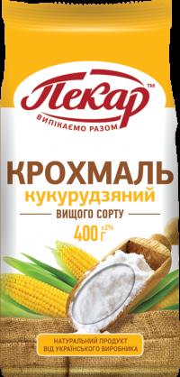 Крахмал кукурузный высшего сорта,0,4кг(15 единиц в упаковке)